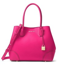 BNWT~Michael Kors Mercer Gallery Ultra Pink Medium Leather Satchel Handbag - $3.450,64 MXN