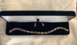 Multi-stone Bracelet and Earring set  - $20.00