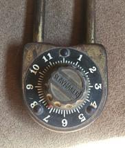 Vintage 40s Slaymaker long combination padlock image 2