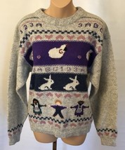 Vintage Pendleton Sweater M Women's Pullover Crewneck Wool Blend Sheep Rabbit - $99.99