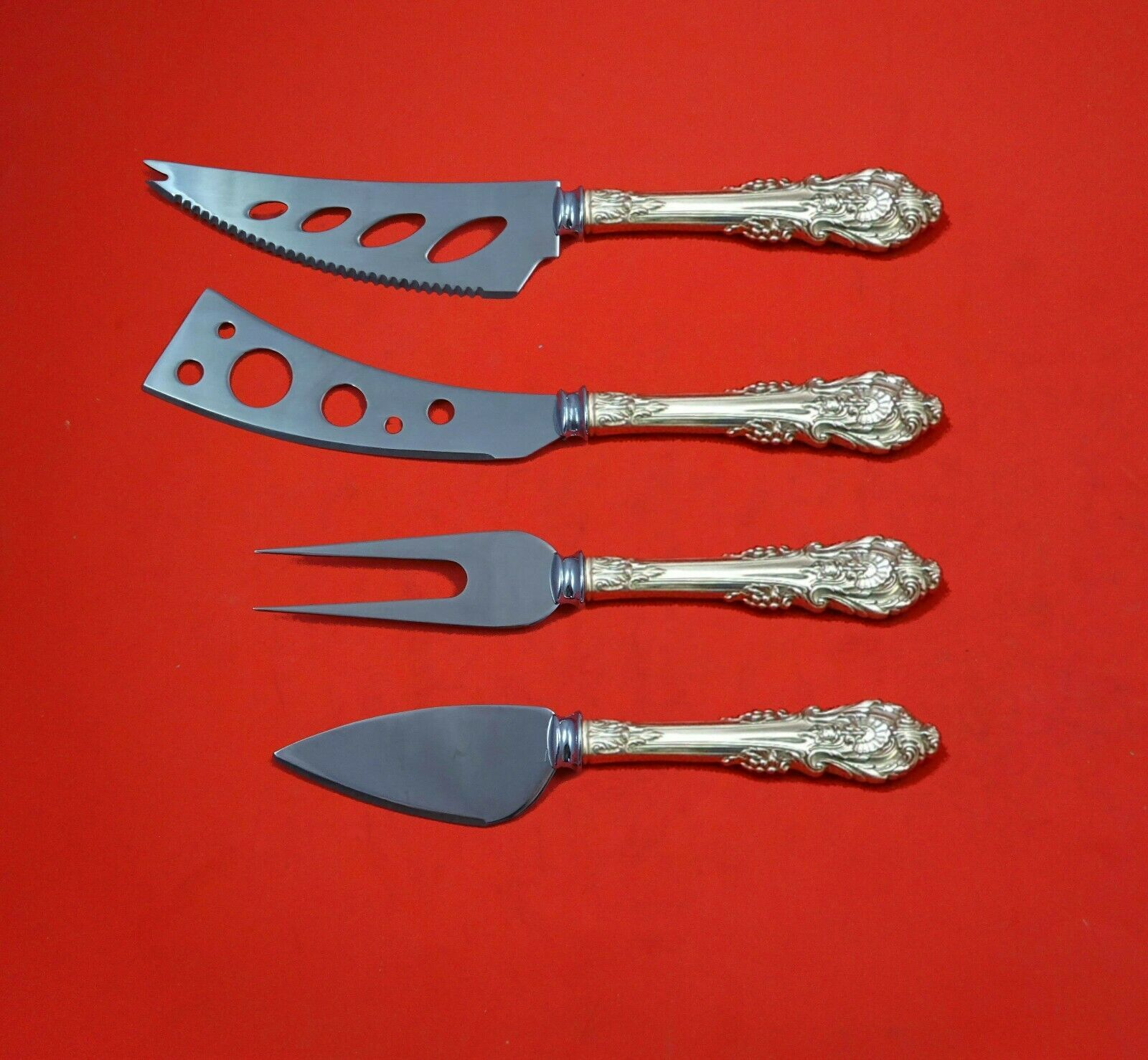 Primary image for Sir Christopher by Wallace Sterling Silver Deluxe Charcuterie Set 4pc Custom