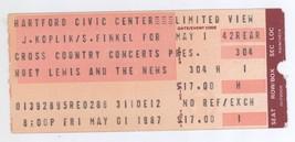 Rare HUEY LEWIS & THE NEWS 5/1/87 Hartford CT Civic Center Ticket Stub! And - $8.90