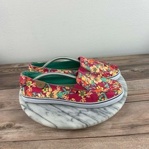 Sperry Top-Sider Zuma Womens Size 7.5 Pink Floral Canvas Slip On Casual Sneakers - $35.95
