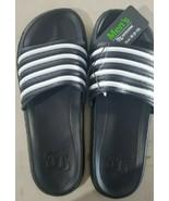 OT Revolution Men's Rubber Sandals/Slides- Black/White, Size Medium (9/10) - $9.75