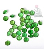 Natural Chrome Diopside 2.5mm Round Faceted Cut 10 Pieces Green Loose Ge... - $22.42