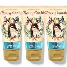 New Bath & Body Works Merry Cookie Ultra Shea Body Cream Travel Size 3 Pc Set - $18.69
