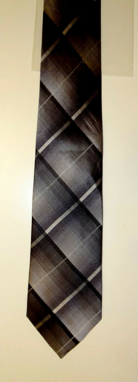 KENNETH COLE REACTION GRAY/BLACK SILK MEN'S NECK TIE 121148