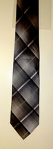 Kenneth Cole Reaction GRAY/BLACK Silk Men's Neck Tie 121148 - $4.99