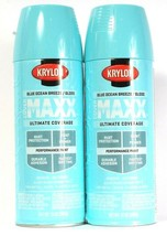 2 Cans Krylon 12 Oz Cover Maxx 9107 Blue Ocean Breeze Gloss Paint & Prim... - $19.99