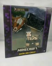 "Mojang Minecraft 5"" Deluxe Shear-Able Black Sheep Shearable NIB Survival... - $12.82"