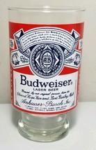 Budweiser Beer Lager Vintage VTG Large Clear Glass Mug Cup - $18.78