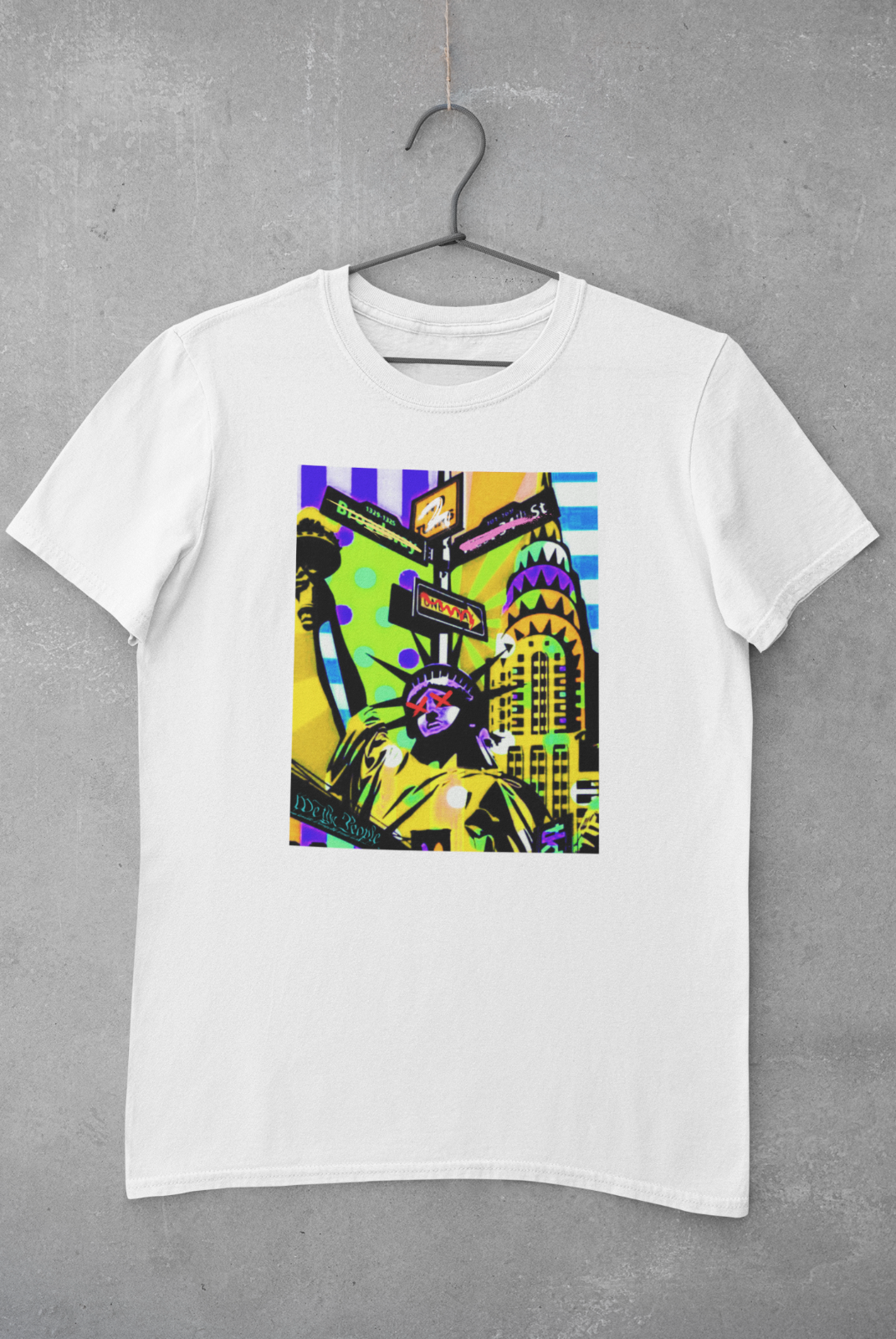 NYC Liberty T-Shirt | New York Graphic Design Tee | Ships Free