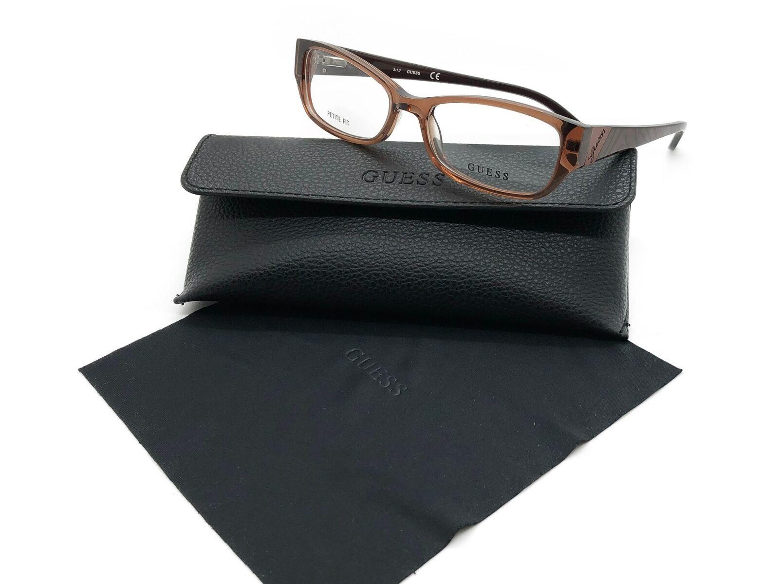 Guess Brown Eyeglasses Frame Remove Demo lenses for RX GU2305 V BRN 52MM
