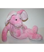 "Russ Berrie EASTER BUNNY RABBIT 18"" Pink Tie Dye Stuffed Plush 62061 Flo... - $33.73"