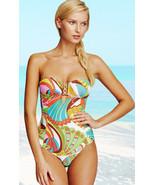 Trina Turk Santa Cruz Buckle Bandeau One Piece Swimsuit 4 10 - $112.50