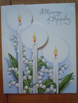 Vintage A Message of Sympathy Embossed Lilly's & Candles The DA Line Gre... - $3.99