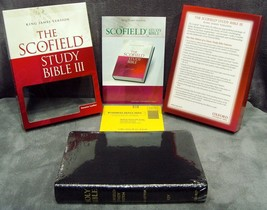 Oxford•KJV•Scofield•Study Bible III•Black•Genuine Leather•Thumb Index•Re... - $99.99