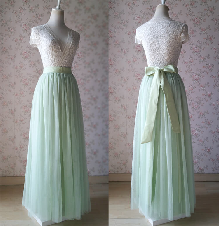 Tulle skirt light green 21a knot 8