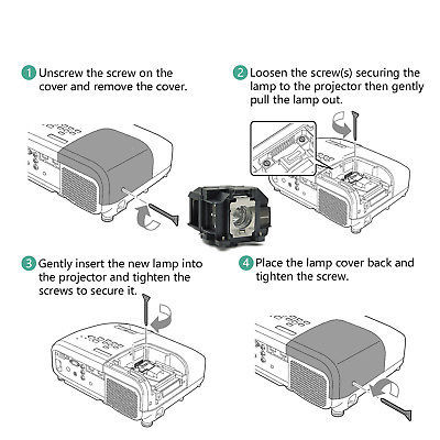 Replacement Projector Lamp for Epson ELPLP67 EB-SXW12 EB-TW480 EB-W01 EB-W02