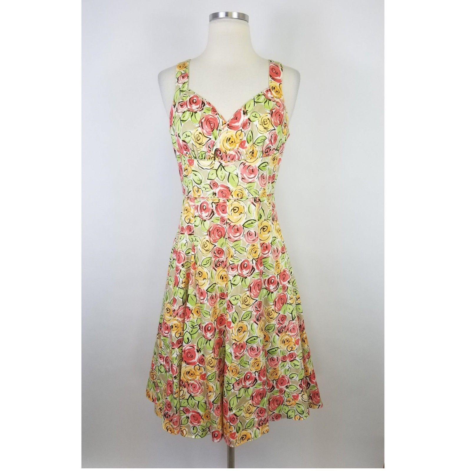 f4b3b31d8ea Talbots Floral Fit   Flare Dress Sleeveless and 50 similar items