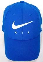 Nike Air Swoosh Men's Blue White Baseball Hat Stretch Fit M/L - $26.27