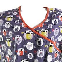 Dickies Comical Artistic Owls XL Gray Scrub Top - $15.83