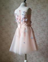 Flower Girl Dress, Sleeveless High Waist Girl Dress Princess Dress - Blush Pink  image 7