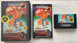 ☆ Sonic The Hedgehog 2 (Sega Genesis 1992) RARE Complete in Case Game Works ☆ - $12.00
