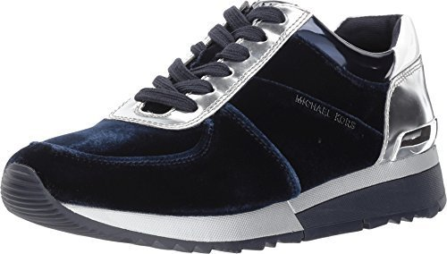 Michael Kors MK Women's Allie Trainer Suede (7.5, Admiral)
