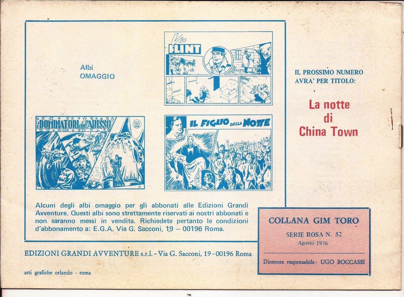 Italian Gim Toro #52 IL Giuramento Di Gim Toro Action Adventure Mystery