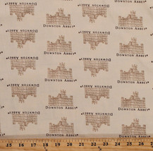 Cotton Downton Abbey Small Castles on Cream Cotton Fabric Print by Yard D780.60 - $11.95
