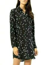 EQUIPMENT FEMME 100% SILK ESSENTIAL DRESS STARRY NIGHT BLACK WHITE SZ MN... - $189.99