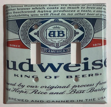 Budweiser Beer Bud Cans Light Switch Outlet Wall Cover Plate Home Decor image 4