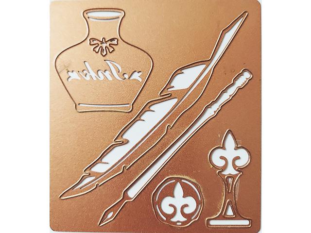 Spellbinders Feather Pen and Ink Die Set #S4-023