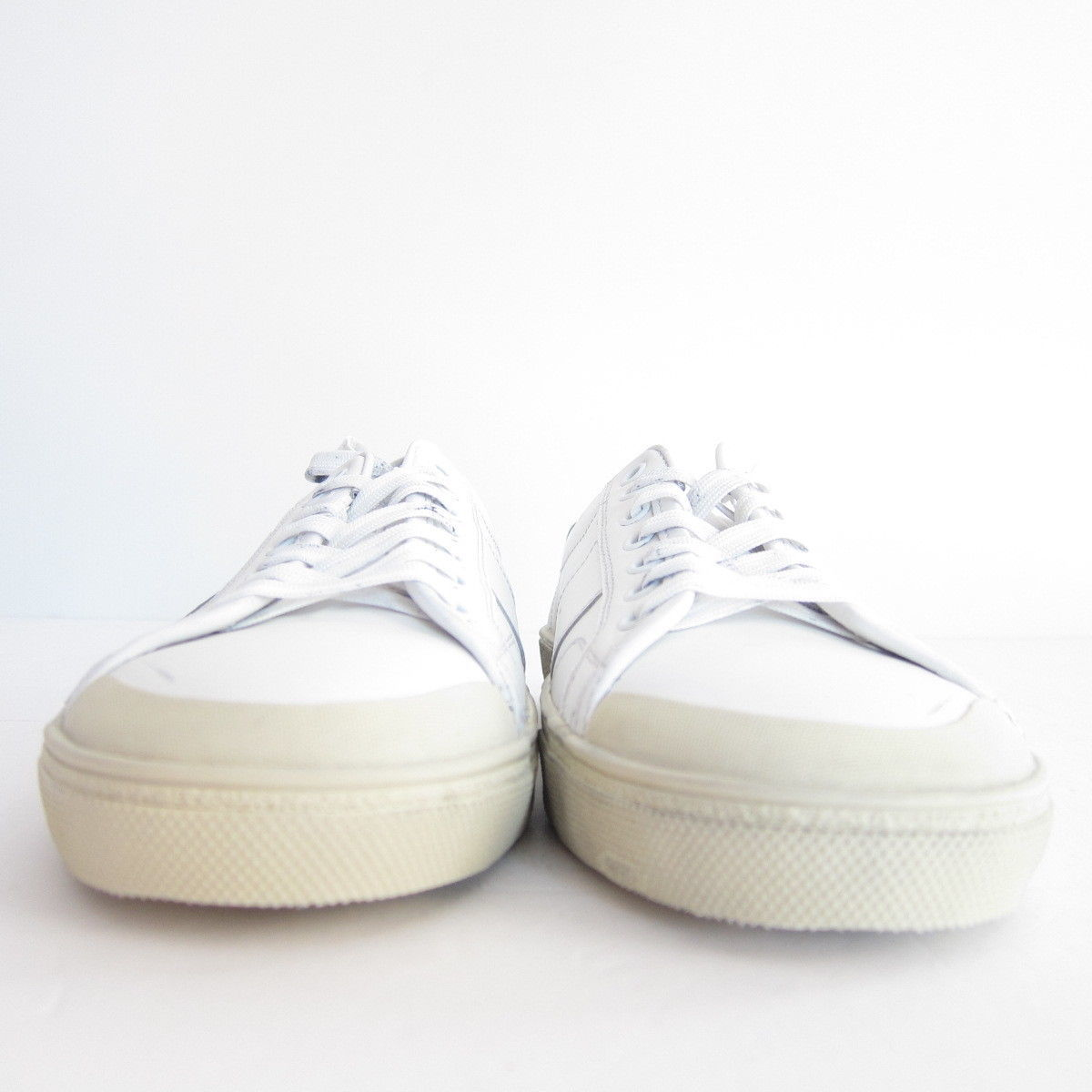P-4659100 New Saint Laurent Off White Women's Leather Sneaker US 10 Marked 40