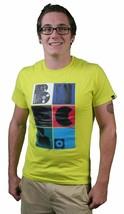 Bench UK Analógico Camiseta Ajuste Estándar Verde Neón Algodón Manga Corta