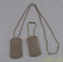 Gucci Dog Tag Necklace Plates F/S From JP - $505.30
