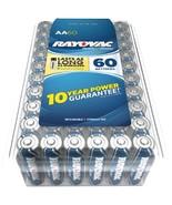 RAYOVAC 815-60PPJ Alkaline Batteries Reclosable Pro Pack (AA, 60 pk) - $50.54