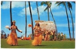 Victoria Honolullu Hawaii Postcard Tahitian Dancers Kodak Hula Show - $2.84