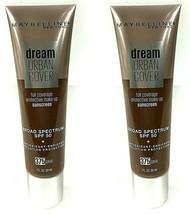 LOT 2 ~ Maybelline Dream Urban Cover Foundation 375 Java SPF50 Antioxida... - $13.84