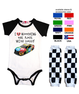 Nascar Onesie Kyle Busch Watching With Custom Infant Bodysuit Shirt Outfit - $17.95+