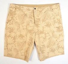 Puma Woven Denim Beige Floral Graphic Casual Cut Off Shorts Men's NWT - $44.99