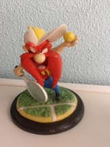Extremely Rare! Looney Tunes Yosemite Sam Playing Tennis Figurine Statue - $127.49