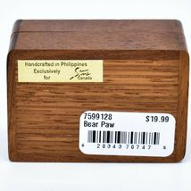 Northwoods Wooden Parquetry Country Rustic Cabin Bear Paw Mini Trinket Box image 4