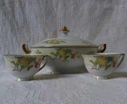 Vintage Hand Painted Fine Bone China made in Japan Serving Bowl w/Lid 2 ... - $45.00
