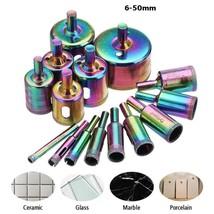 15pcs 6-50mm Diamond Hole Saw Drill Bit Set Tile Ceramic Glass Marble Dr... - $9.38