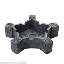 Pentacle Ashtray Celtic Knot Cigarette Stone Like Pentagram Home Decor - $13.59