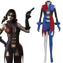 Batman Harley Quinn Cosplay Costume Women Sexy Halloween Chamarras Costume - $116.00