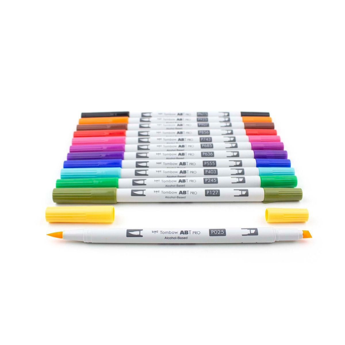 Primary image for ABT PRO 12-Color Brush Art Markers (Brush & Chisel Tip)-Basic Palette, Tombow