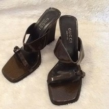 Gucci Women's Leather Heel Sandals Shoe Sz 38.5 / 8 B US.  SEXY!!!!! - $193.03